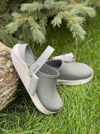 Кроксы Crocs LiteRide Clog Grey серые 40-44