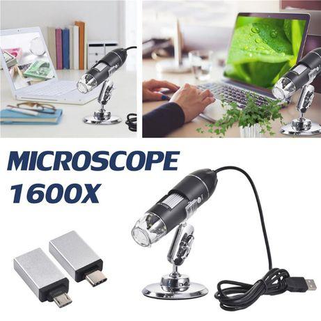 3-em-1 microscópio digital 1600x