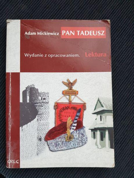 Pan Tadeusz Adam Mickiewicz KSIĄŻKA Lektura z opracowaniem