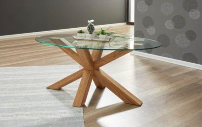 Mesa de café oval