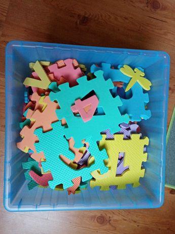 Puzzle, klocki piankowe