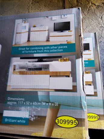 Nowa komoda LivarnoLiving nowoczesna w kolorze białym okazyjna cena