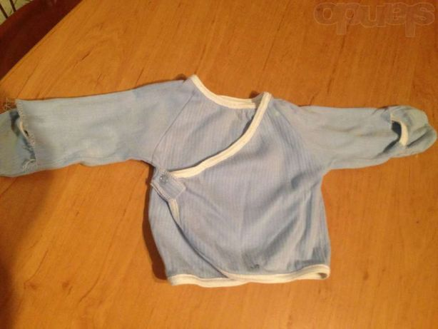 Распашонка голубая 0-6 месяцев
