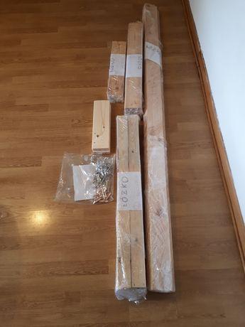 Łóżko pojedyncze drewniane