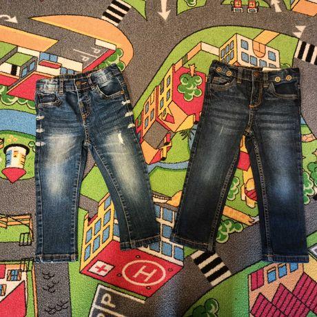 Chłopięce spodnie dżinsowe rozm 92 (wypadają na duże 86) 2 pak