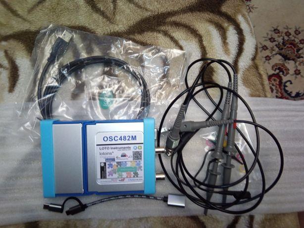 OSC482M,виртуальный цифровой осциллограф,2 канала, USB, ПК, Андроид