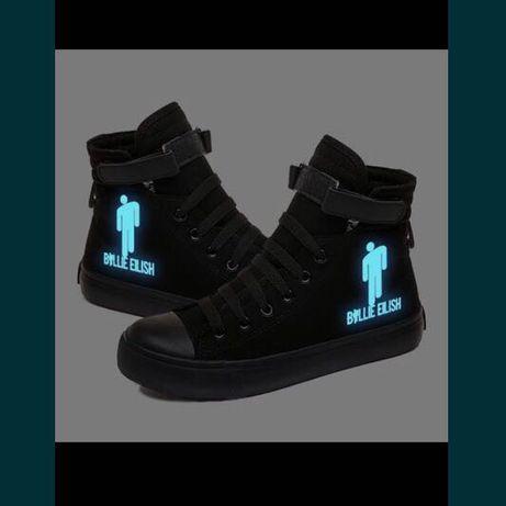 Кроссовки светящиеся в темноте Билли Айлиш Billi Eilish
