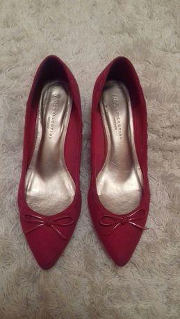 Buty czółenka szpilki czerwone 39