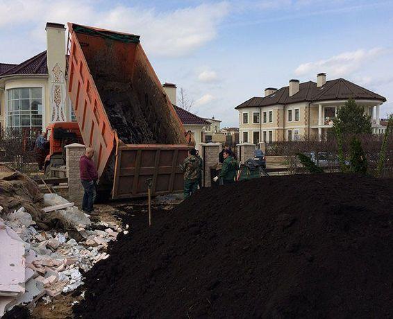 Чернозем торф сыпец навоз перегной высокого качества земля грунт глина