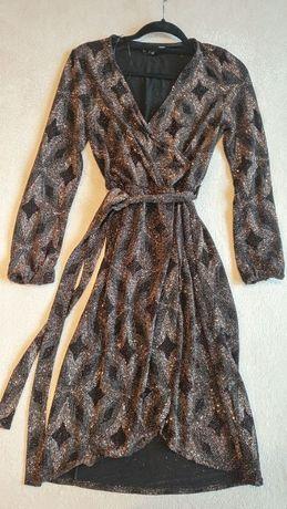 Платье нарядное, новогоднее, блестящее, модное, S/M