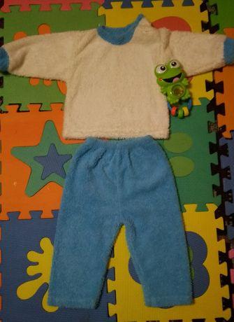 Теплая пижамка/костюмчик/слип/поддева для комбинезона/комплект для сна