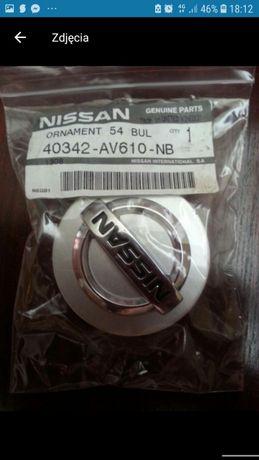 ORYGINALNE !!! 4 zaślepki dekielki do alufelgi Nissan 54mm