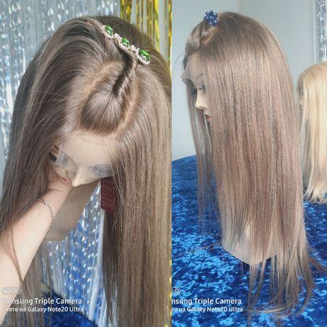 Натуральный парик имитация кожи славянский детский волос пепел блонд