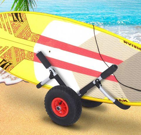 Wózek do transportu kajaków desek surfingowej składany