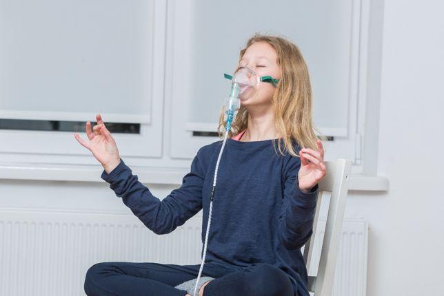 Tlen inhalacyjny w puszce + maska, 14L tlenu 99,5%