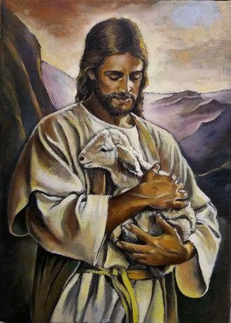 Chrystus Dobry Pasterz Obraz olejny