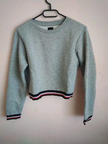 Bluza wkładana z futerkiem Sinsay rozmiar S szara
