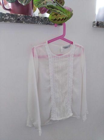 Śliczna biała, koronkowa koszulka mgiełka dla dziewczynki
