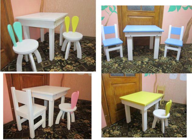 Детский столик и стульчик! Комплекты разные! Можно отдельно! Ольха.