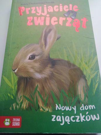 Książka przyjaciele zwierząt nowy dom zajączków