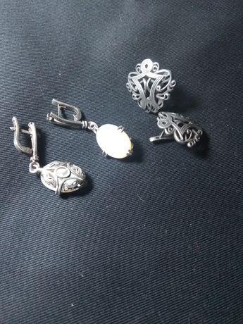 Серьги серебро 925проба