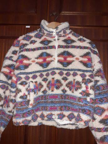 Camisola/Sweatshirt pêlo canguru étnica M Pull&Bear. Portes incluídos!
