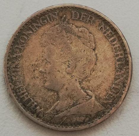 Holandia 1 Gulden 1915 srebro 0.945 Królowa Wilhelmina 1G Koningin