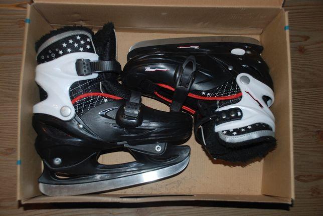 Łyżwy regulowane rozmiar 34-37 płoza hokejowa