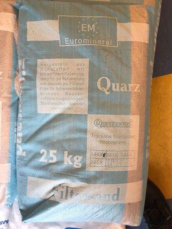 Кварцевый песок для фильтров 0,4-0,8 мм