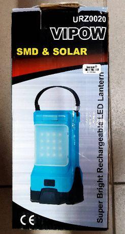 Lampa Kempingowa LED z funkcją ładowarki + SOLAR