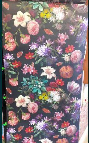 (NR:1). Przepiękna tapeta papierowa w kwiaty. Okazja!!!