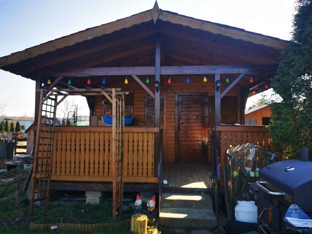 Ogródek działkowy działka rekreacja ROD  domek drewniany taras
