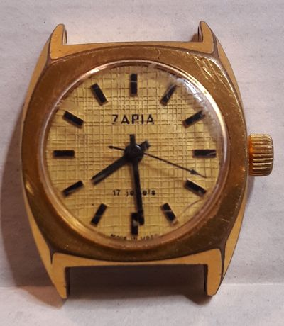 Stary pozłacany zegarek ZARIA.
