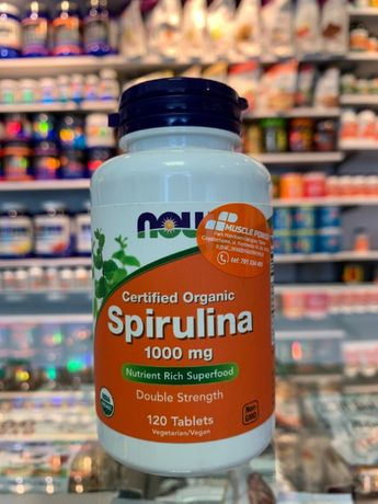 NOW Spirulina 500mg - 100tab antyoksydanty, suplementy, odżywki