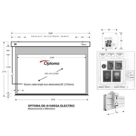 OPTOMA elektryczny ekran kinowy 106 cali, stan idealny, wro
