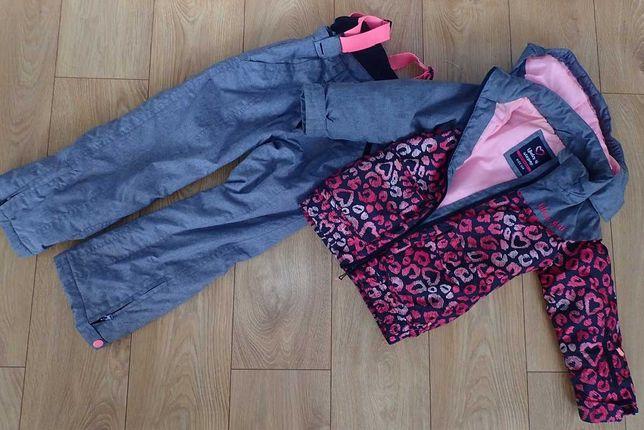Super zestaw spodnie narciarskie i kurtka marki reserved rozm 116