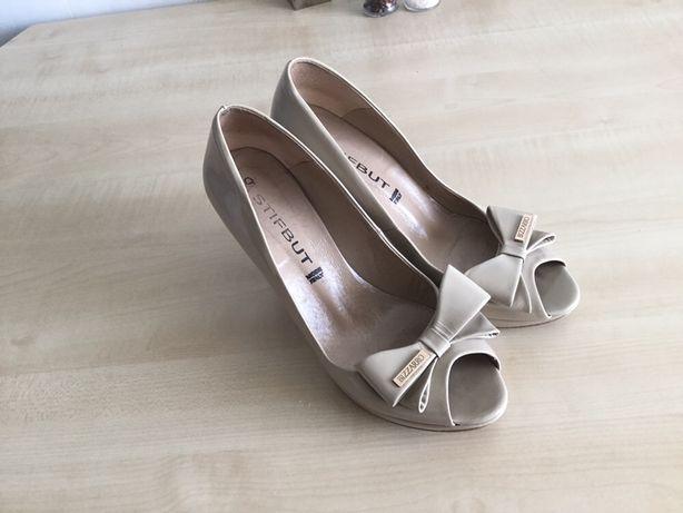 Кожа туфли Bizzarro, Италия, удобные 37 размер