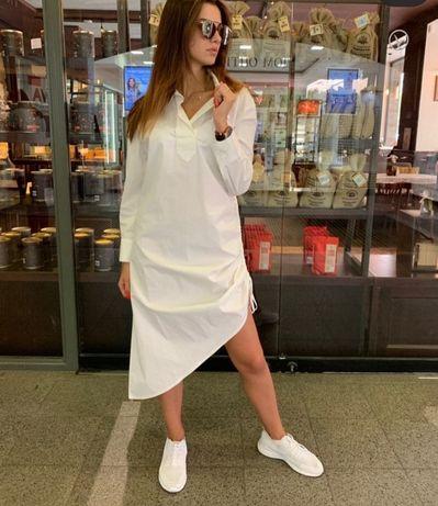 Платье-Рубашка женская белая Италия