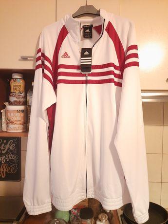 Adidas Climalite bluza luźna basketball koszykówka biało czerwona XXL