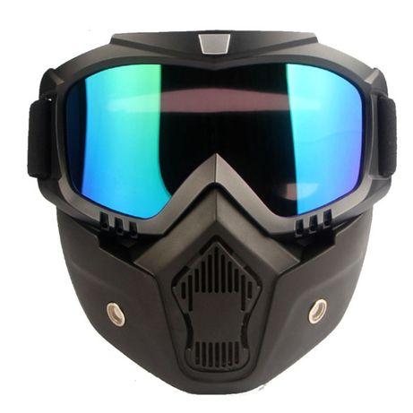 Mascara Óculos e filtro Motociclista Ski Snowboard Paintball Neve NOVO