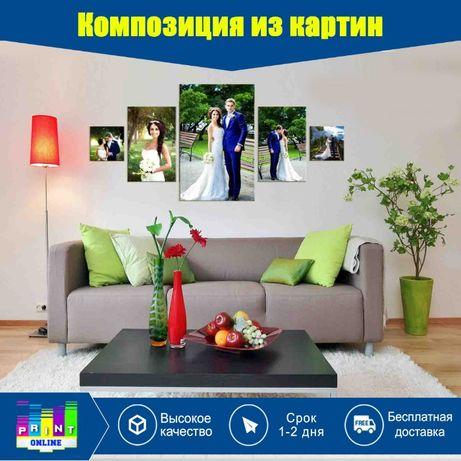 Картина на заказ.арт портрет постеры по фото печать холсте фотокартина