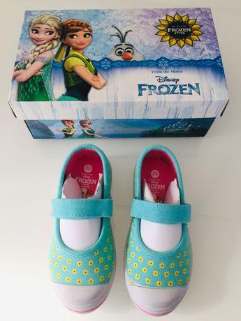 Nowe buty baleriny trampki kapcie dziewczęce Kraina Lodu rozmiar 26
