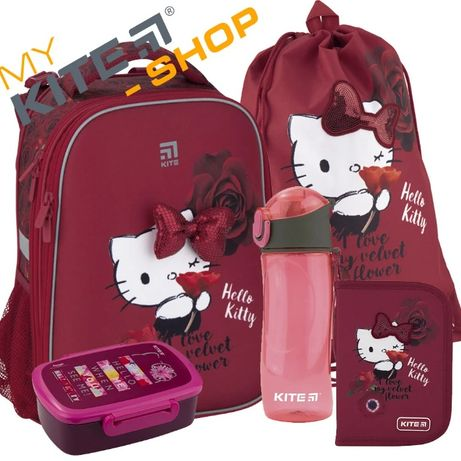 Школьный набор 5в1 Kite Рюкзак Пенал Сумка Ланчбокс Hello Kitty КАЙТ