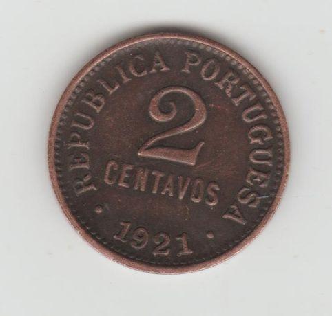 moeda 2 centavos 1921 escassa