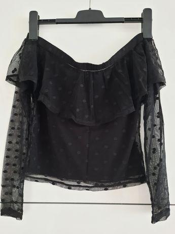 Bluzka hiszpanka z siateczka h&m rozmiar 36