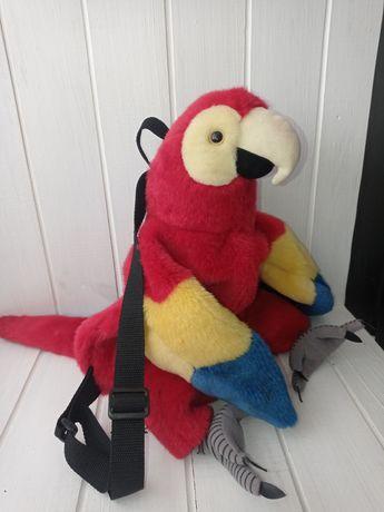 Рюкзак в садик папугай. Папуга. Рюкзачок. Сумка