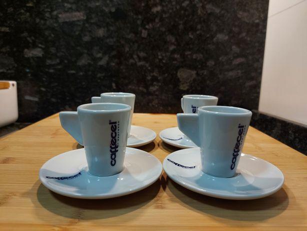 4 chavenas de café Caffecel