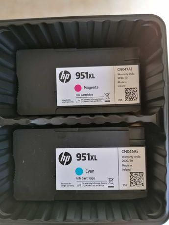HP 951 XL - Tinteiros azul e magenta originais novos