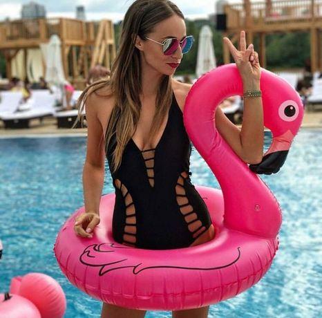 Надувной круг Фламинго 90 см для детей , подростков и взрослых