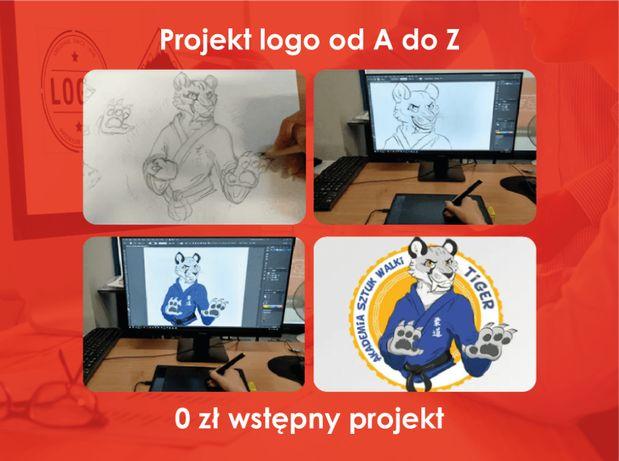 Projektowanie LOGO projekt loga logotypy projekty graficzne grafik fb